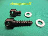 Mossberg 500 Forend & Stock 2 Sling Stud Screw Set, White Washers, .25 Inch Stud