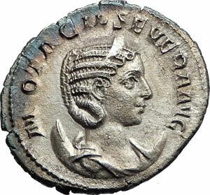 OTACILIA-SEVERA-Philip-I-Wife-244AD-Ancient-SILVER-Roman-Coin-Concordia-i76232