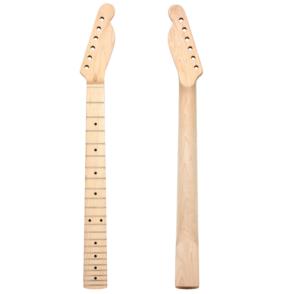 electric guitar neck for tl replacement parts maple wood 22 fret w nut 42mm ebay. Black Bedroom Furniture Sets. Home Design Ideas