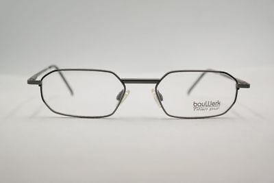 Gutherzig Vintage Bauwerk At4 Col.04 52[]19 135 Grau Oval Brille Brillengestell Nos