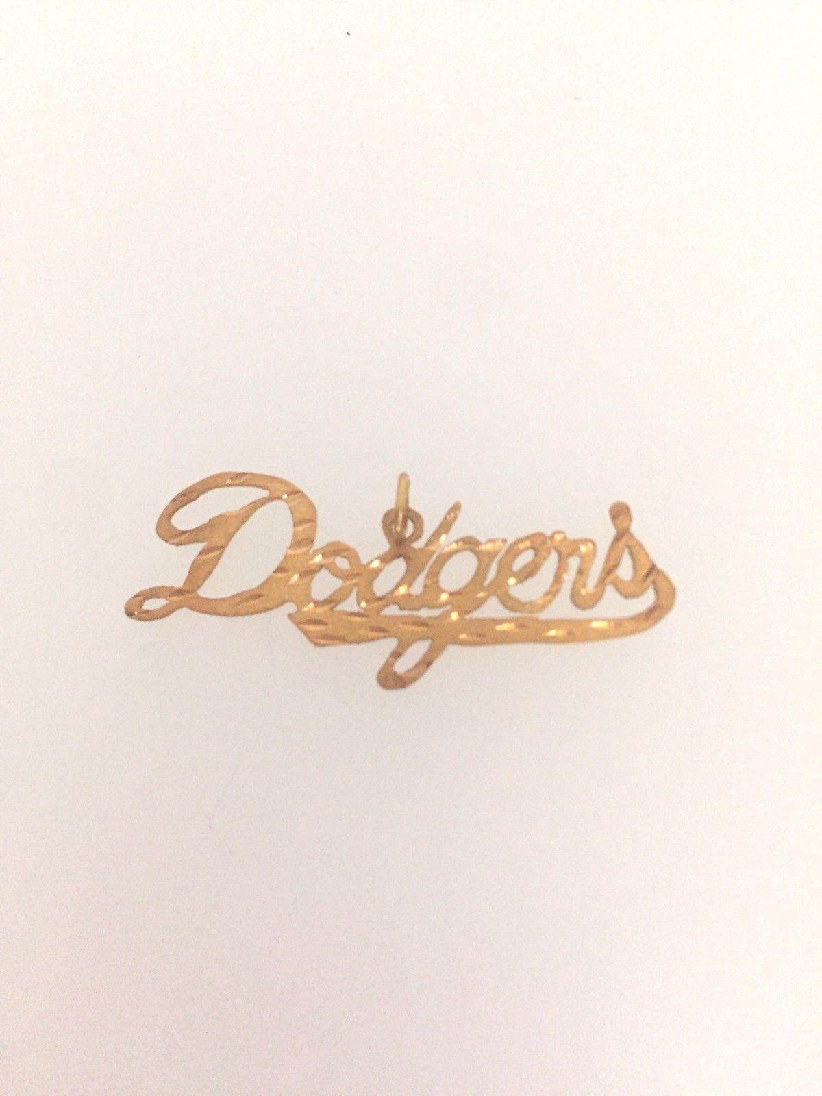 Los Angeles Dodgers Dodgers Dodgers Logo Anhänger 14k GelbGold 8fae89