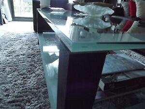 Table de salon en verre trempé