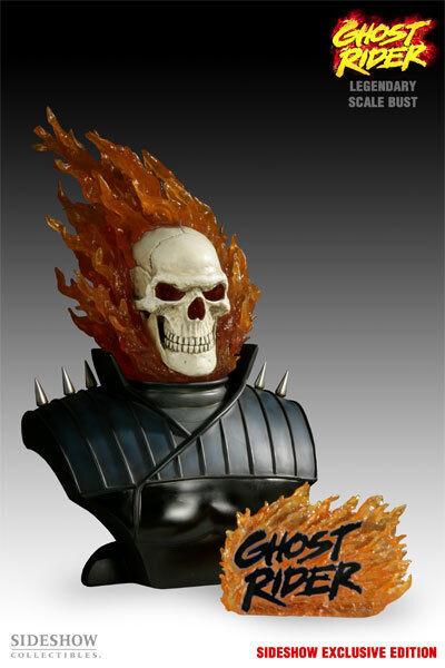 Ghost Rider Busto De Escala legendaria por Sideshow Collectibles exclusivo LM 200