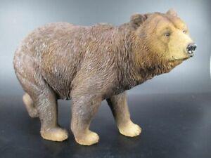 Braunbar-Bear-32-cm-brauner-Bar-Tierfigur-Poly-Animal-Figur-Neu