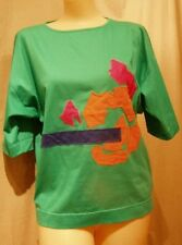 LAUREL WEST GERMAN GREEN EMBELLISHED DESIGNER T-SHIRT M