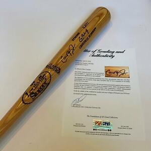Beautiful 1980's Cal Ripken Jr Signed Game Model Bat PSA DNA Graded MINT 9