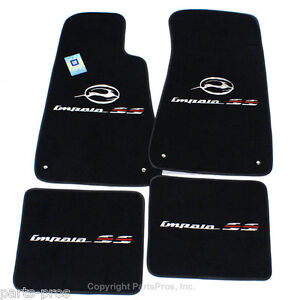 Image Is Loading New Black 4 Piece Premium Logo Floor Mat