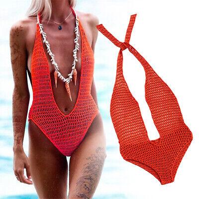 Damen Badebekleidung Bikini Set Dessous Häkeln Mikro Stricken Badebekleidung