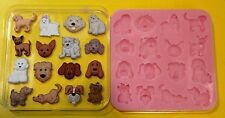 DOG BREEDS SET SILICONE MOULD FOR CAKE TOPPERS CHOCOLATE CLAY ETC