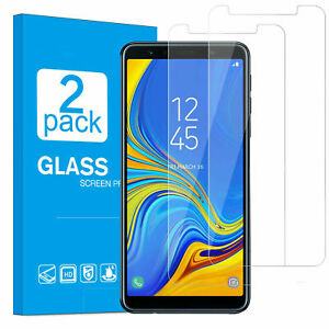 2x-Samsung-Galaxy-A7-2018-Schutzglas-Panzerfolie-Displayschutzfolie-9H-Hartglas