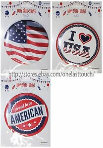 """MOMENTUM BRANDS 4"""" Jumbo 4TH OF JULY Patriotic+Flag LARGE PIN New! *YOU CHOOSE*"""