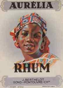 """""""RHUM AURELIA - J. BERTHELOT Gond-Poutouvre"""" Etiquette-chromo originale S6uI2WAS-09120629-613536023"""