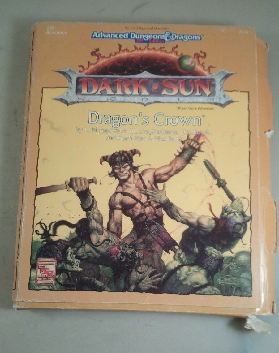 Advanced dungeons and dragons dark sun dragons crown box set 2416