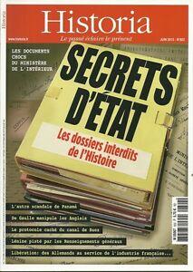 Historia No 822 Secrets Set White The Folders Interdits Of History 3780506705704 Ebay