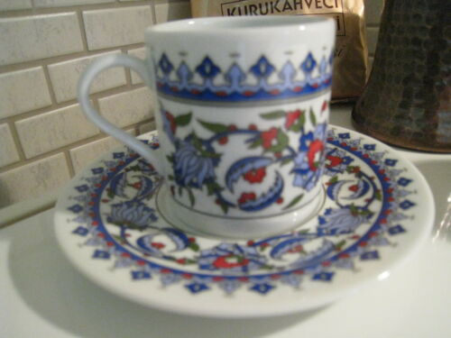 Turkish Coffee Serving Sets-4 Coffee PorcelainCup/&Saucer,Coffee Maker Pot,Coffee