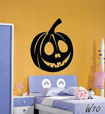 Happy Halloween Scary Pumpkin Wall Art Decal Vinyl Sticker For Bedroom Living