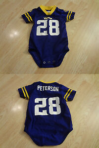 size 40 69786 e1751 Details about Infant/Baby Minnesota Vikings Adrian Peterson 3/6 Mo Jersey  Creeper One-Piece (P