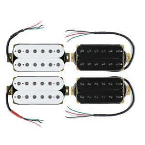 FLEOR-Electric-Guitar-Humbucker-Pickup-Neck-Bridge-Pickup-Hex-Poles-White-Black