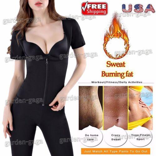 Sauna Suit Hot Fajas Women Neoprene Vest Shaper Shirt Sleeves Arm Slim Bodysuit