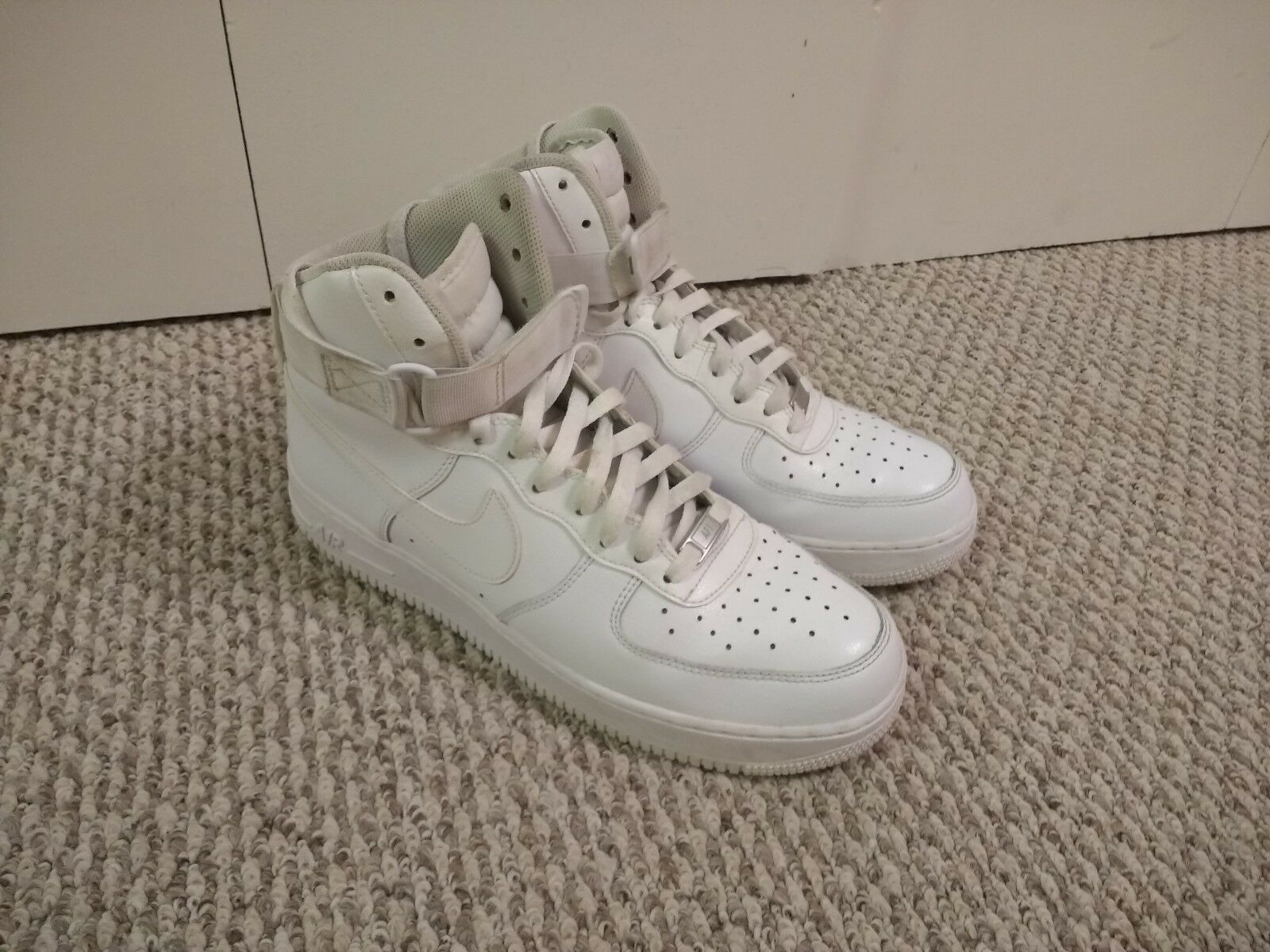 Air Force 1 One High Top. All White, US SIZE 11.5