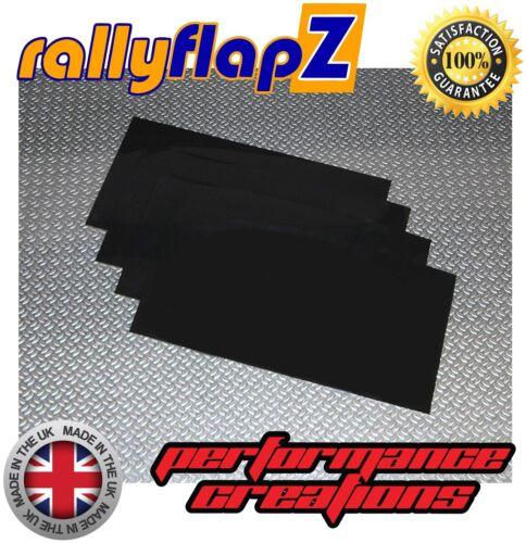 4mm Thick Universal SEAT LEON Mud Flaps 40cm x 45cm Qty4 Mudflaps BLACK