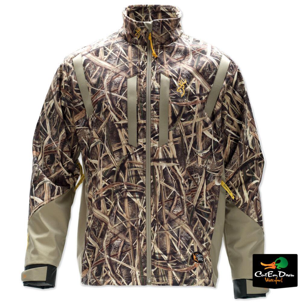 marróning Dirty Bird Viento matar chaqueta a prueba de abrigo Sombra Hierba Hojas Camo Grandes