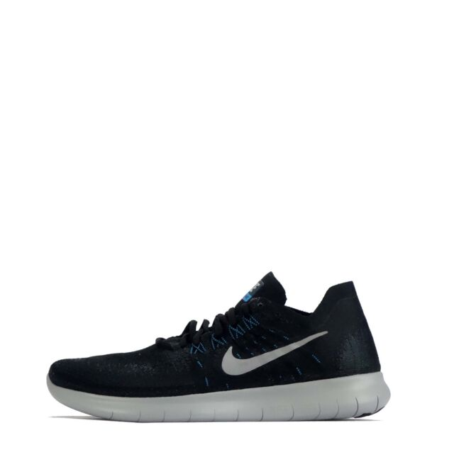 8ee319bb38821 Nike Womens RN Flyknit 2017 Fabric Low Top Lace up Running Black Size 8.5
