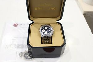 Breitling-Chronomat-Evolution-A13356-Automatic-Chronograph-Men-039-s-Watch