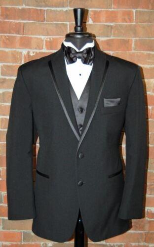 Shirt Pants Bow Tie Mens 40 L  Black La Strada  by After Six Tuxedo Jacket