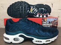 Womens Nike Air Max Tuned Plus UK Size 4.5 Satin Trainers Turquoise Green TN 95