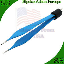 Bipolar Micro Adson Forceps Foot Activated Reusable Electrosurgical Inst El 021
