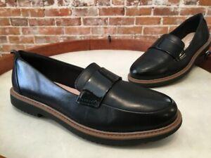 Clarks Black Leather Raisie Arlie Slip