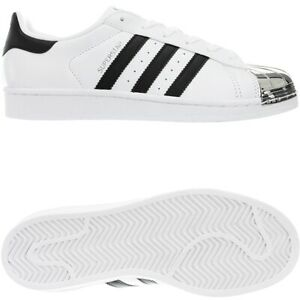 Details about Adidas Superstar Metal Toe W white black women's low-top  sneakers leather NEW