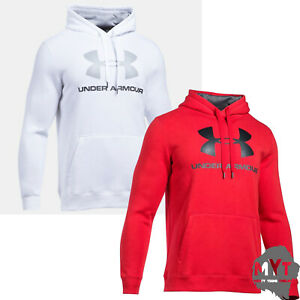 90026a4c2 Men's Hood Under Armour UA Rival Fleece Fitted Graphic Hoodie | eBay