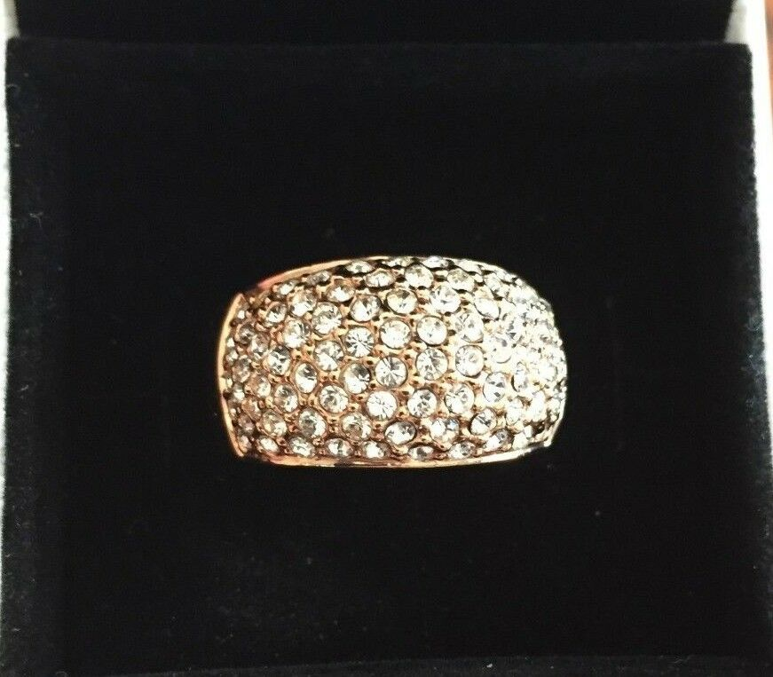 pink gold Vermeil Pavé Crystal Ring Size  US 9 (XL)