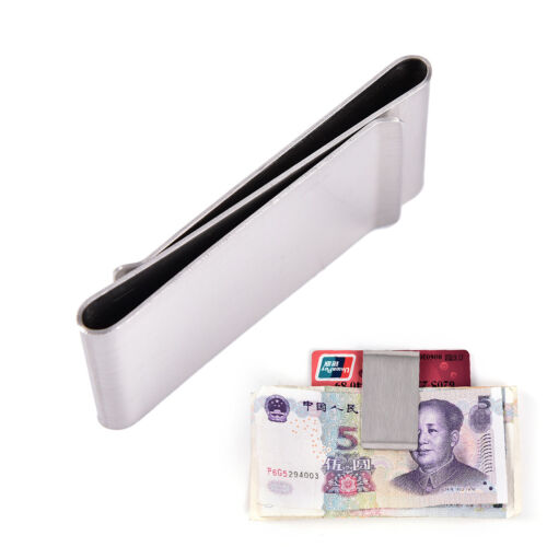Two-Sided Stainless Steel Slim Pocket Money Clip Wallet Credit Card Cash Hold·n