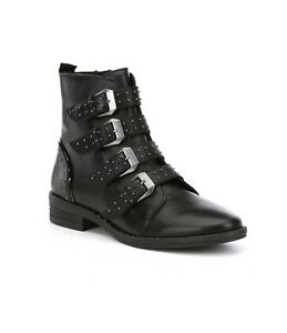 ef80f1dad13 Steve Madden Pursue Women s Size 8M Black Leather Studded Strappy ...