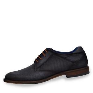 hot sale online fa87b 7f7d5 Details zu Bugatti Herren Schnürschuhe Business Schuhe Halbschuhe Uni  Schuhe dunkelblau