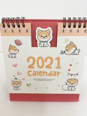 Kawaii shiba inu Corgi puppy dog 2020-2021 home office desktop Calendar gift WFH