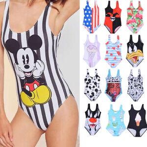 637318b1c390 Caricamento dell'immagine in corso Costume-Da-Bagno-Intero -Mickey-Donna-Topolino-Fumetti-