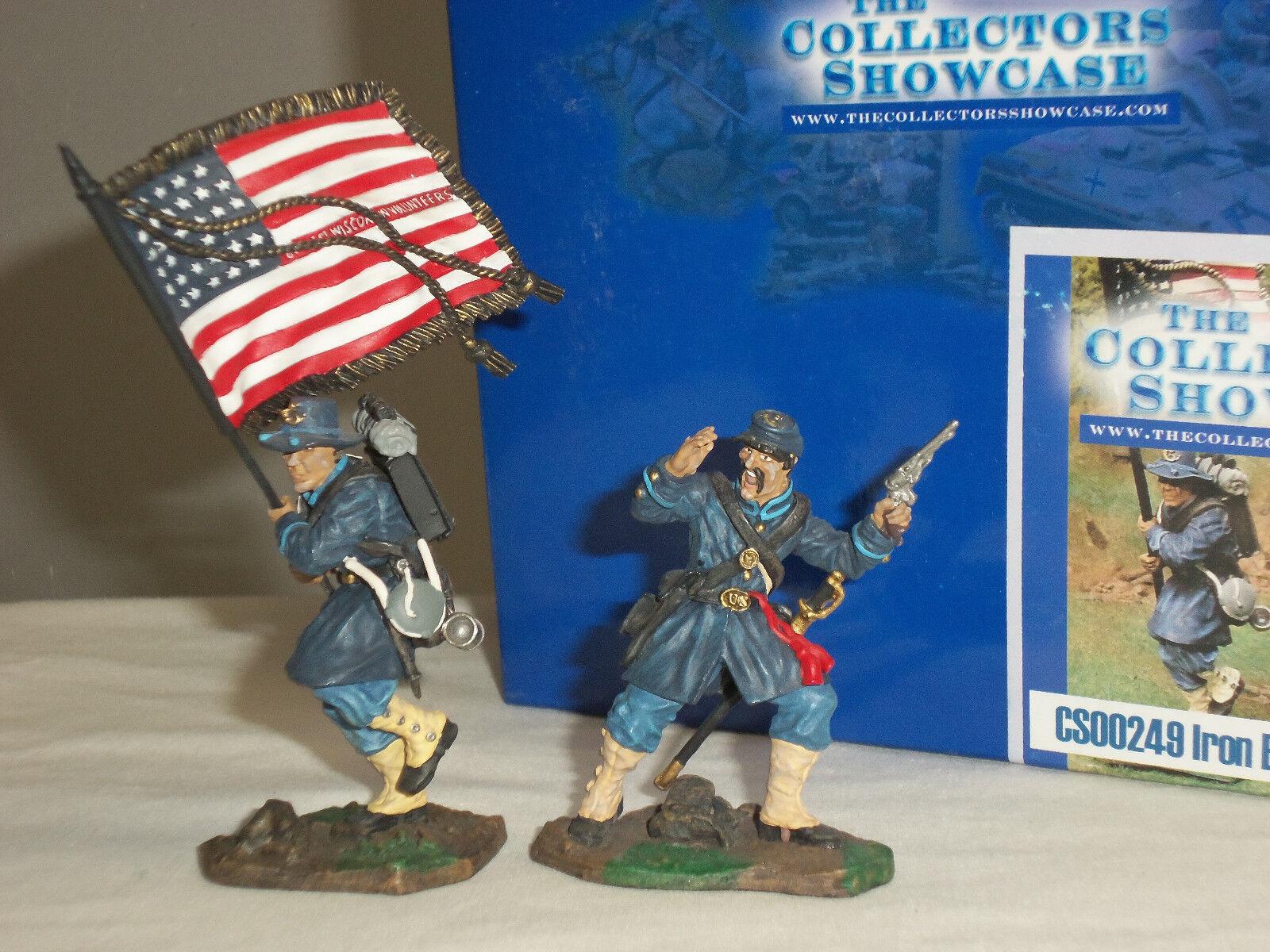 COLLECTORS SHOWCASE CS00249 IRON BRIGADE METAL TOY SOLDIER FIGURE COMMAND SET