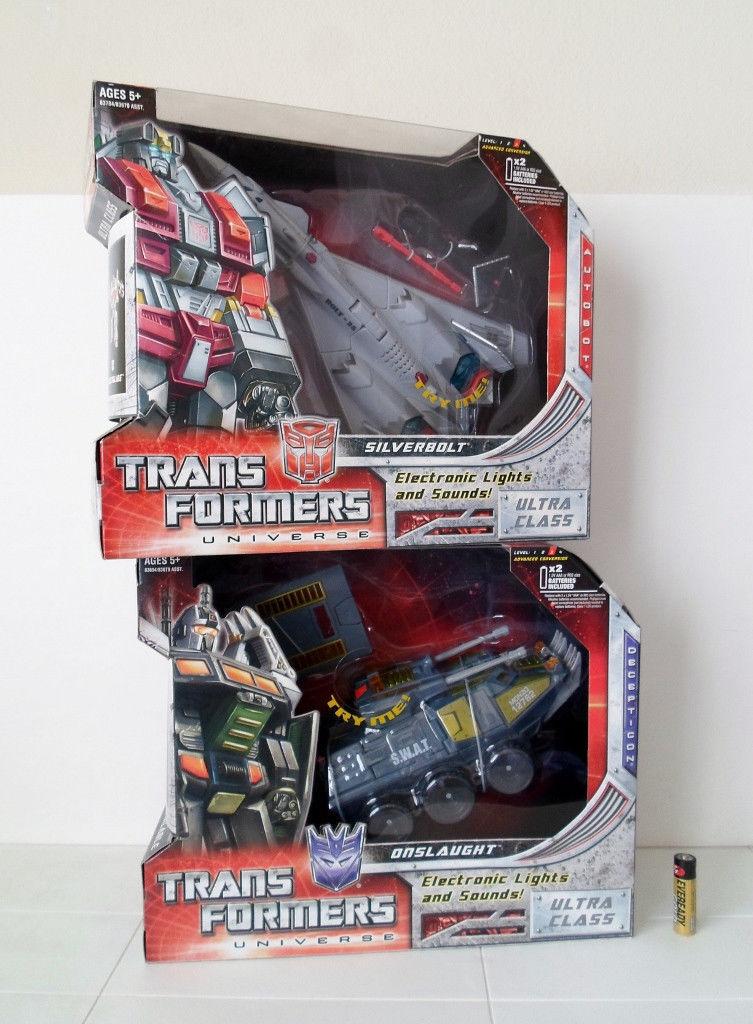 Transformers UNIVERSE Classic ULTRA CLASS ONSLAUGHT vs SilberBOLT Hasbro MISB
