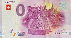 BILLET-0-EURO-GRUYERE-SUISSE-2017-NUMERO-PALINDROME-525