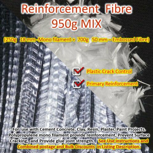 Concrete Reinforcement 920g Polypropylene Fibre PP slab driveway ramp crossover