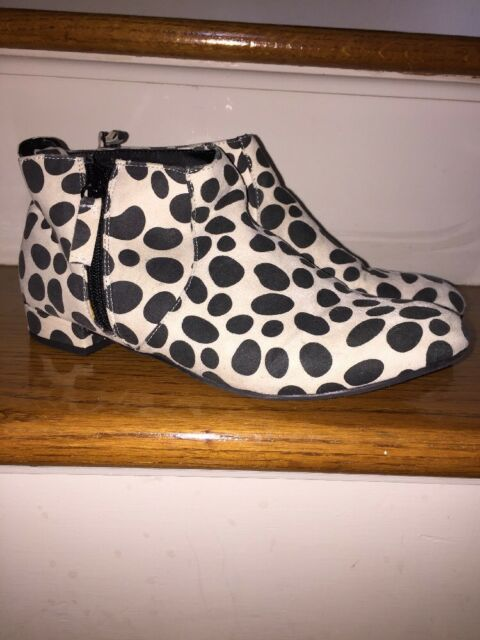 4cf9db885968 JOE FRESH Girls Junior BOOTIE CHEETAH DALMATION SHOES Ankle Loafers BOOTS  SIZE 5