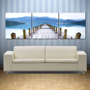 Details About Pierseascape Ready To Hang 3 Panel Wall Artimproved Canvas Print Mounted O Mdf
