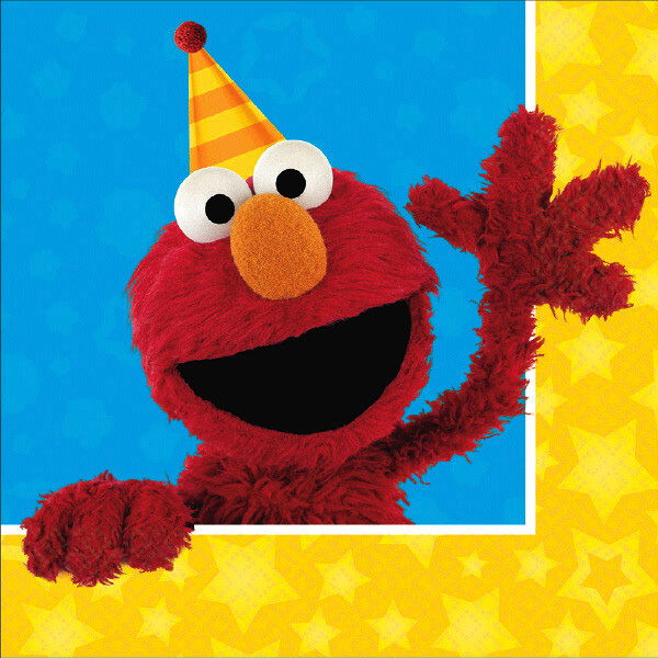 Sesame Street Party Supplies LUNCH NAPKINS Pack Of 16