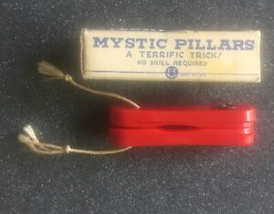Vintage Magic Trick Mystic Pillars E-Z Magic Cut & Restored String No Skill