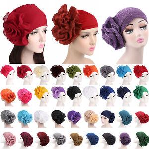 Muslim Womens Flower Turban Head Wraps Cancer Chemo Hair Loss Hat Beanie Cap US