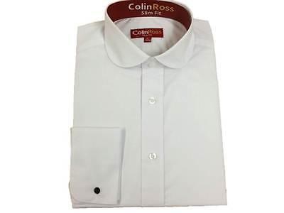 X LS BIANCO MODELLANTE Penny rotondo colletto camicia doppio bracciale
